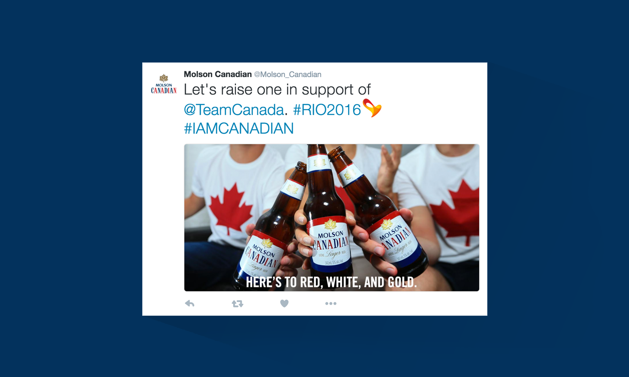 Molson Heritage Cheers For Rio